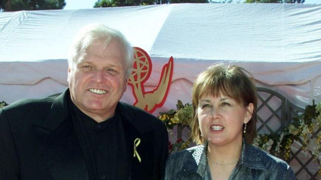 Brian Dennehy with his second wife Jennifer Arnott