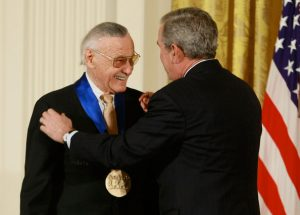 Stan Lee receives the American National Medal of Arts