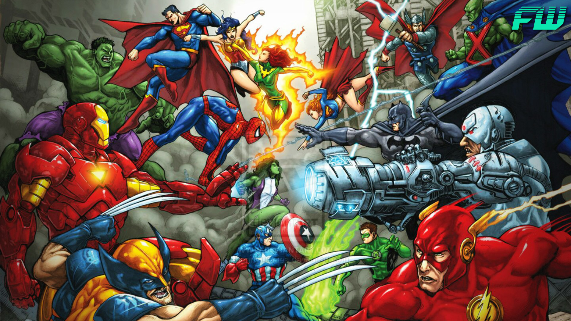 Team ups of Marvel and DC characters