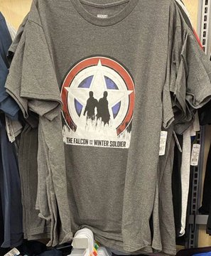 Falcon and the Winter Soldier Official Merch Walmart grey