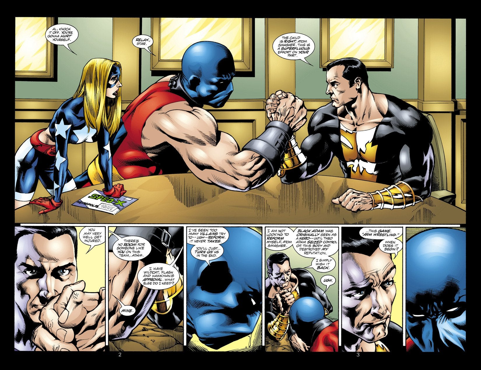 Black Adam and Atom Smasher