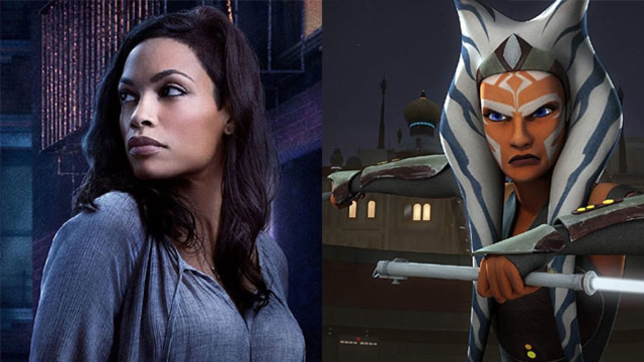 Rosario Dawson as Ahsoka Tano for The Mandalorian