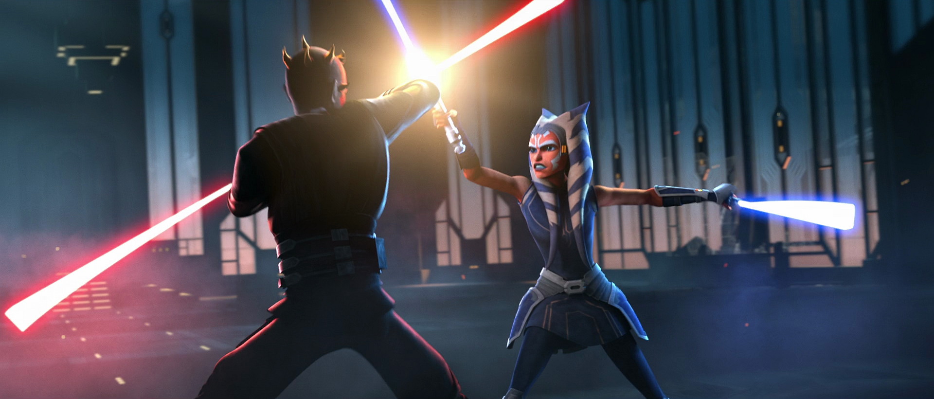 Ahsoka Tano Lightsaber Battle in The Mandalorian