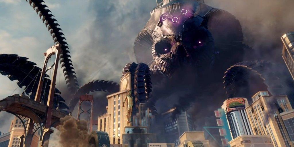 Suicide Squad Kill The Justice League brainiac skull ship