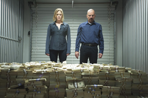 breaking bad walter skyler money pile
