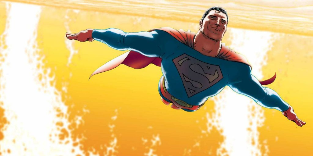 flash vs superman superman-flying-by-sun