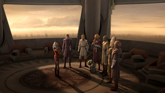 Ahsoka Tano and the Jedi Council