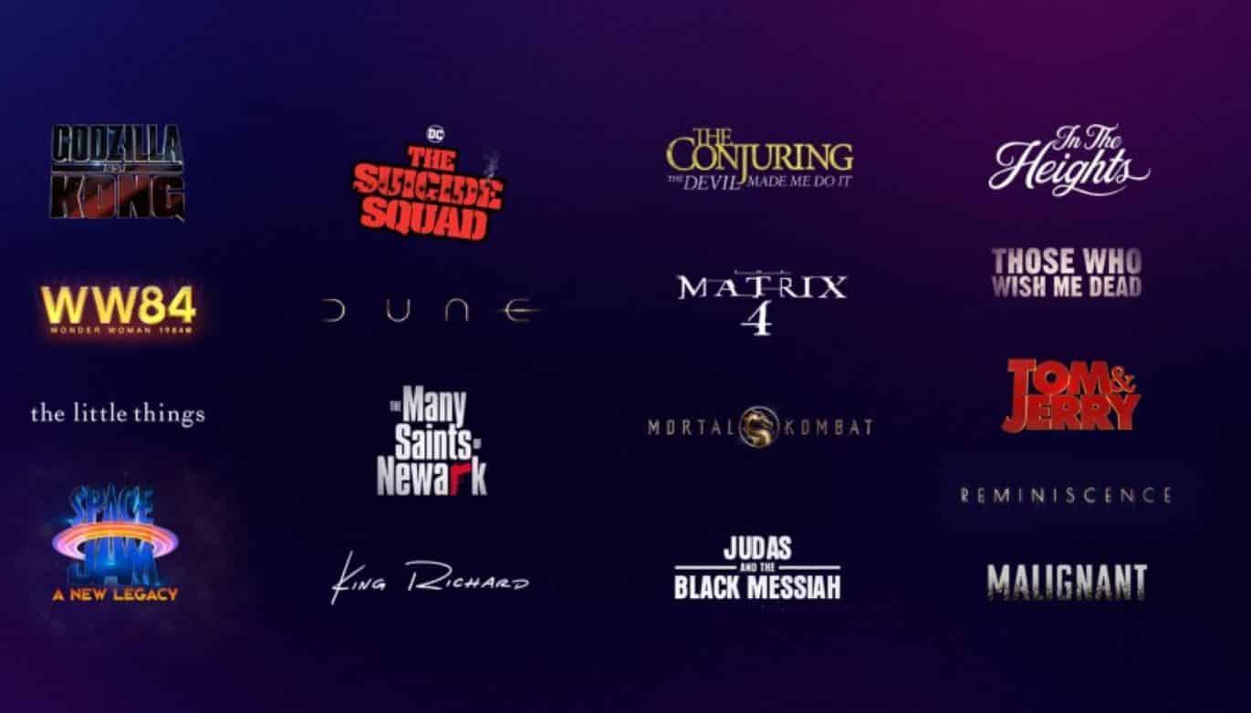 Upcoming Warner Bros. Releases In 2021