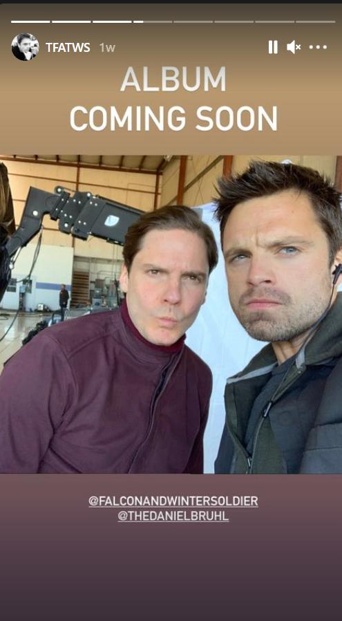 Daniel and Sebastian behind the scene