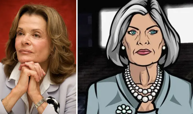 Jessica Walter and Malory Archer on Archer cannot look more similar.