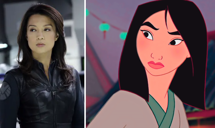 Ming-Na Wen looks just as fierce as her character Mulan.