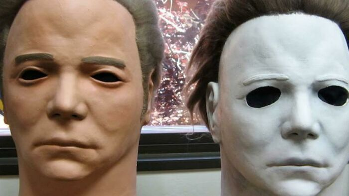 The mask that was used for Halloween (1978) was a William Shatner mask painted white.