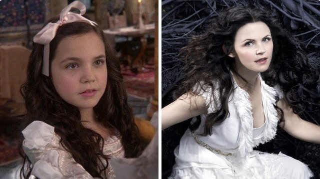 Young Snow White and Grown Snow White in 'Once Upon a Time'