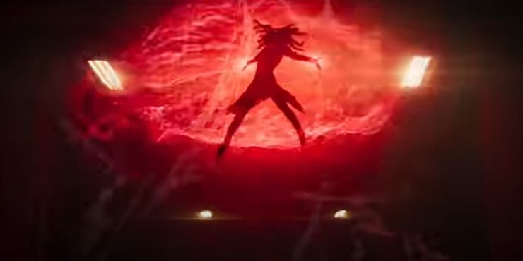 The Scarlet Witch released an energy flame, and Okoye threw a spear at her. When it approached her, the spear disintegrated.