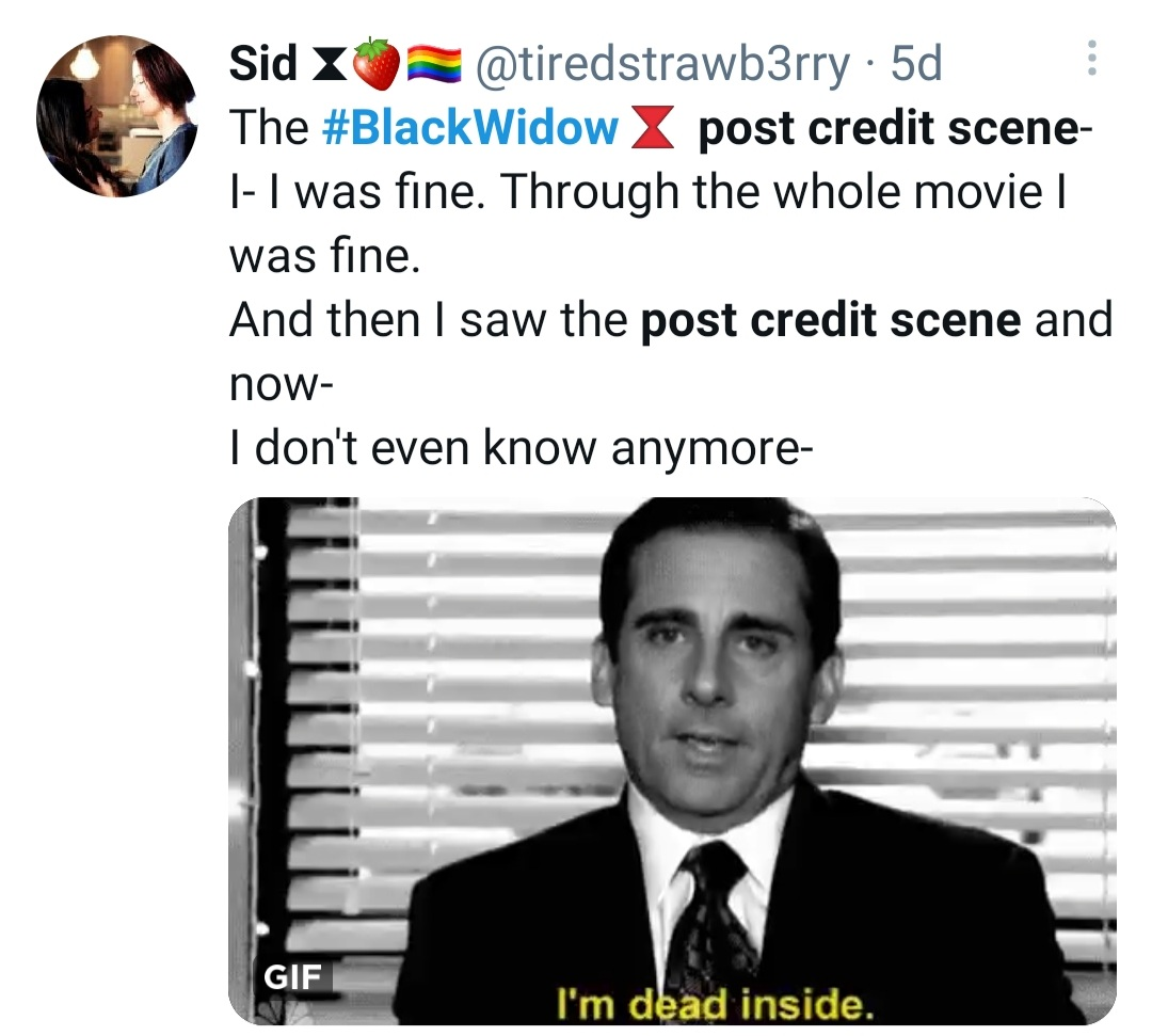 Fans react to Black Widow post credit scene