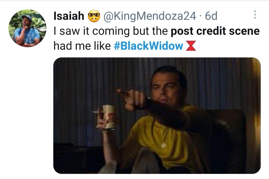 Black Widow's post credit scene reactions