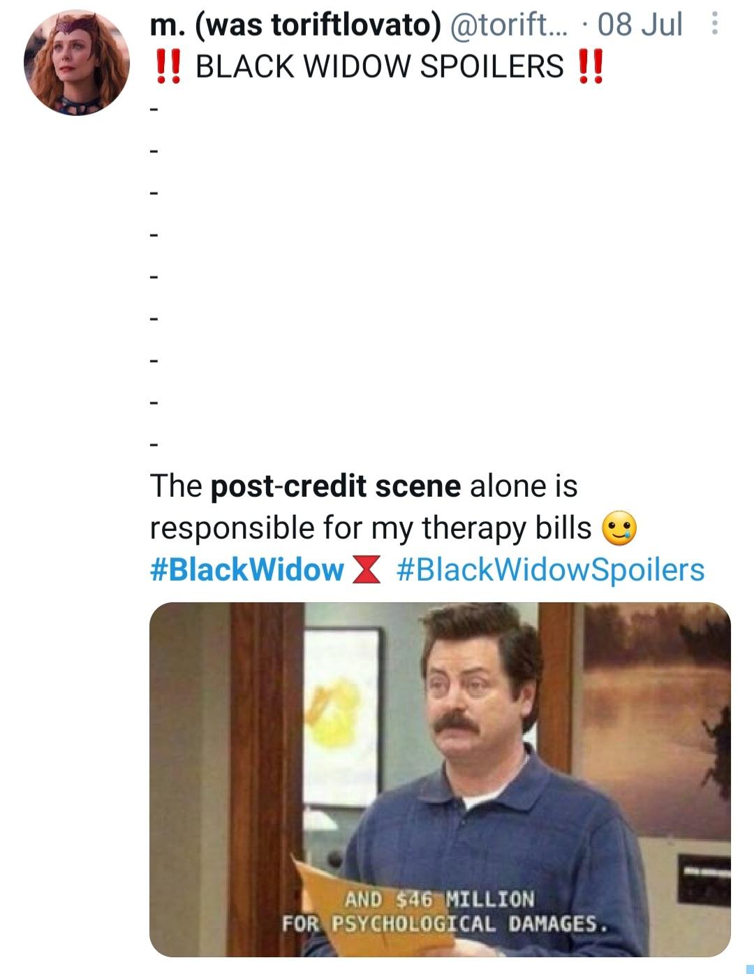MCU Black Widow spoiler