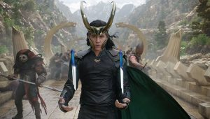 7. The horns on Loki's helmet in the first film were very vertical, which intentionally matched the upward shapes and design of Asgard.
