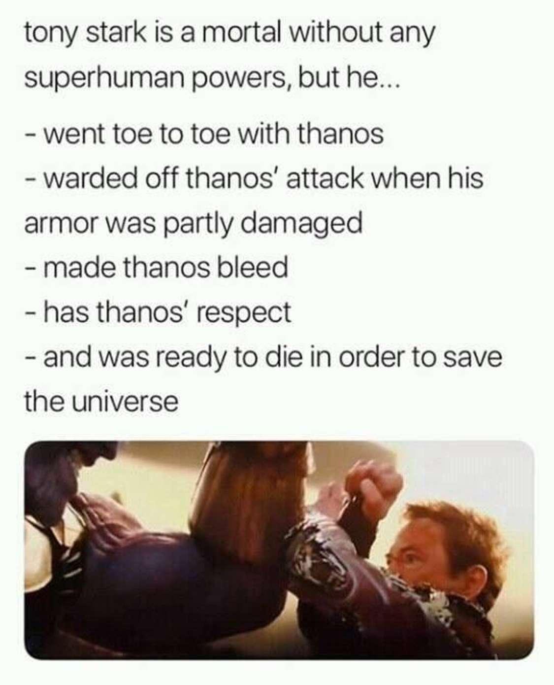 Best Avenger for a reason