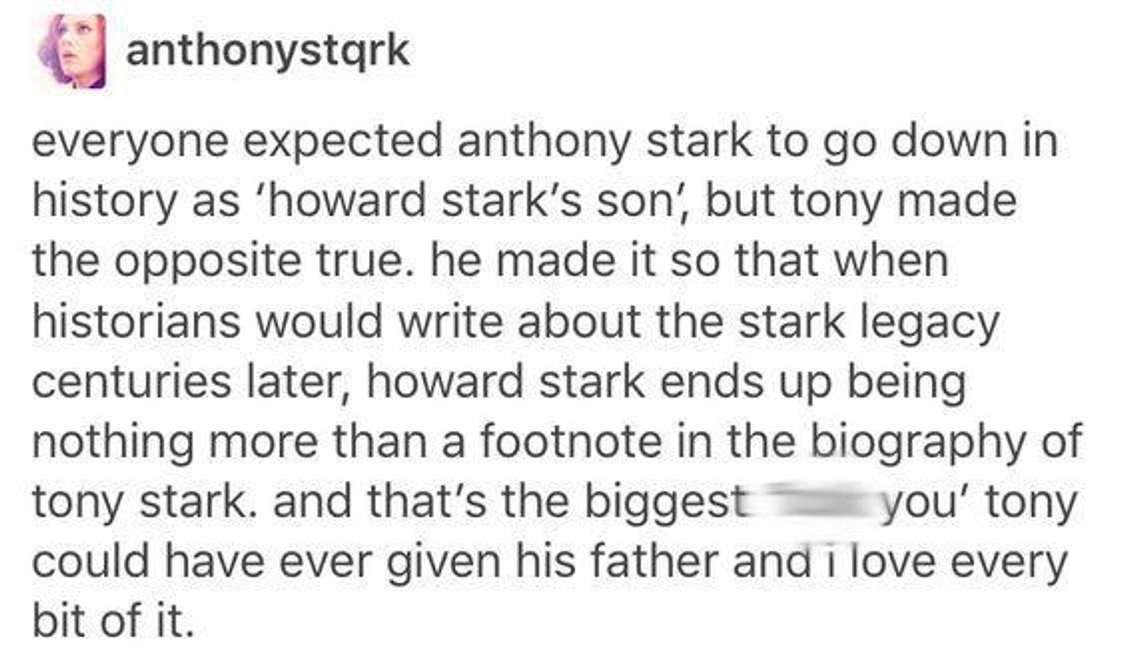 The Stark legacy