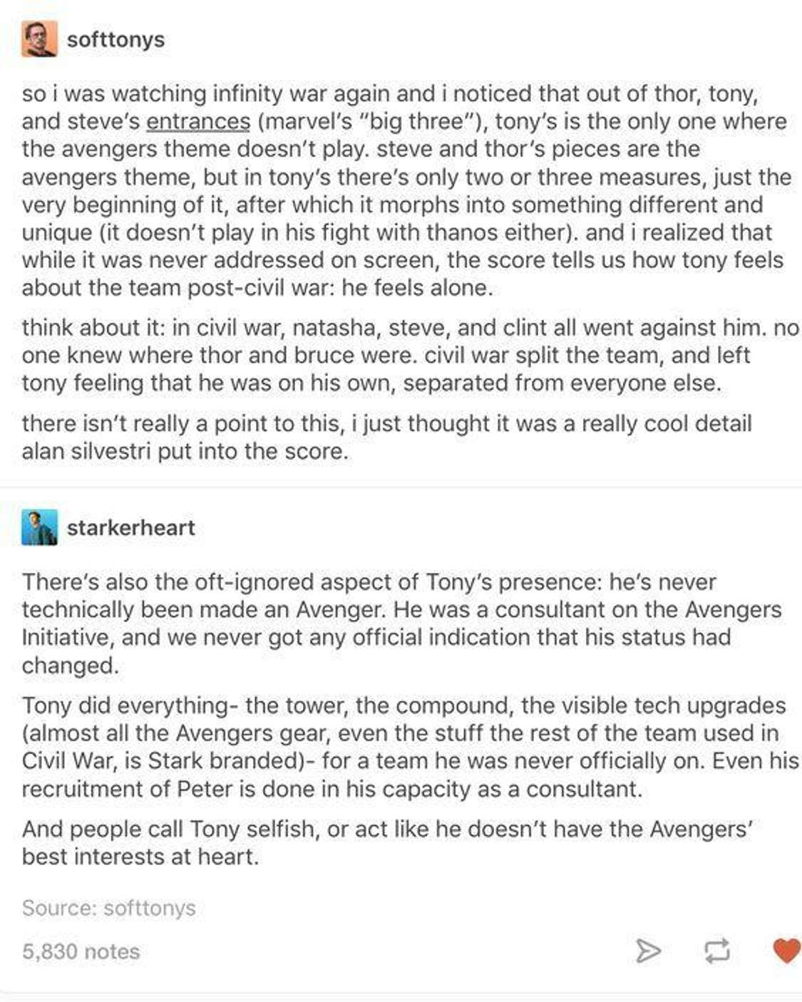 His role as an Avenger