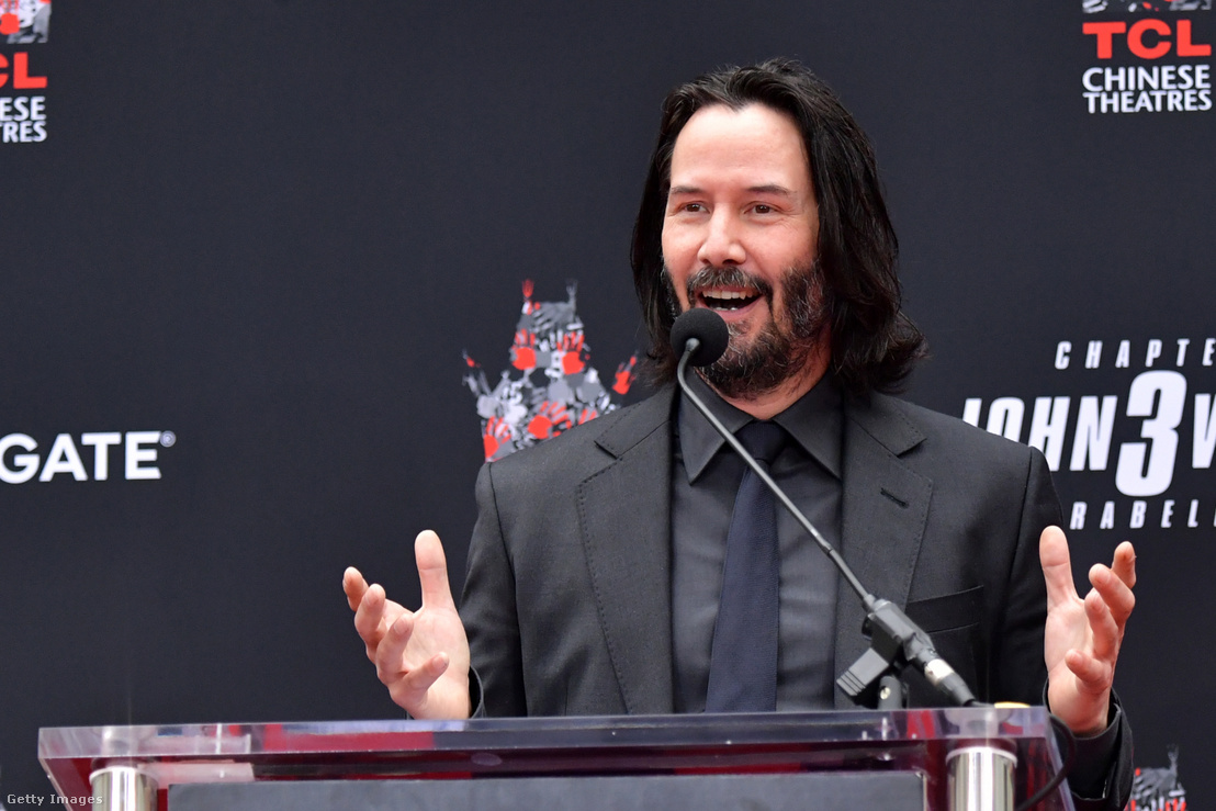Keanu Reeves Handprint ceremony on May 2019