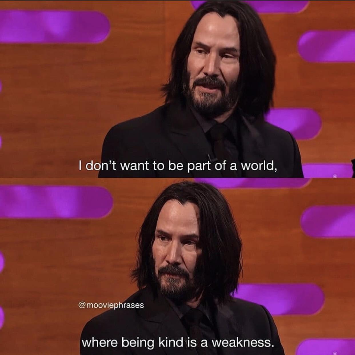 Keanu in an interview