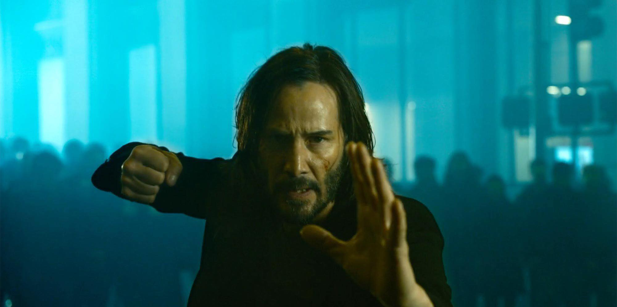 Keanu Reeves as Neo in The Matrix Resurrections