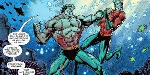 Aquaman and Aquabeast fight
