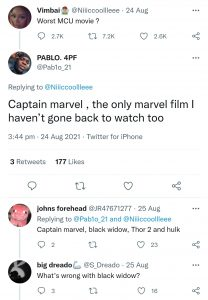 Not revisiting Captain Marvel