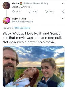 Black Widow was just bland