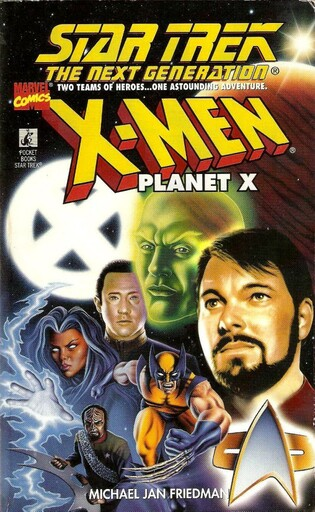 Star Trek: The Next Generation / X-Men: Planet X (1998) Cover