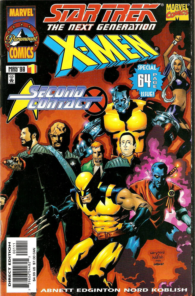 Star Trek: The Next Generation / X-Men (1998) Cover