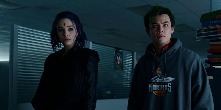 Raven with Beast Boy in Titans Season 3